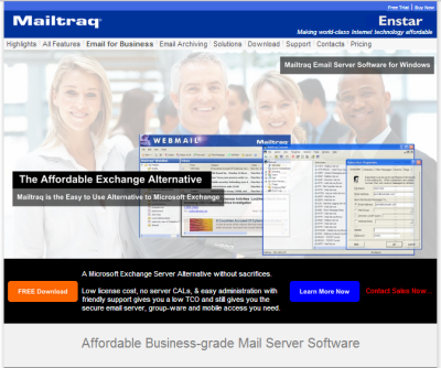 Mailtraq email server software